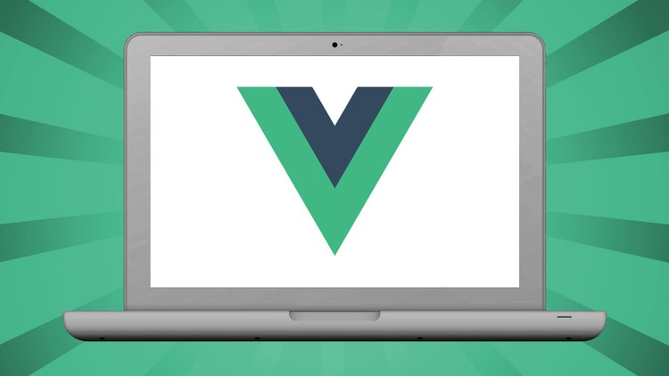 VueJS logo on a laptop